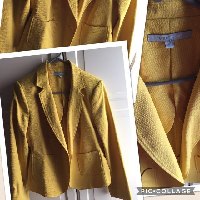 Size 12 yellow blazer