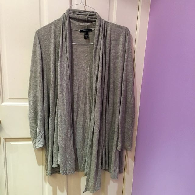 Size L Grey Cardigan Forever 21