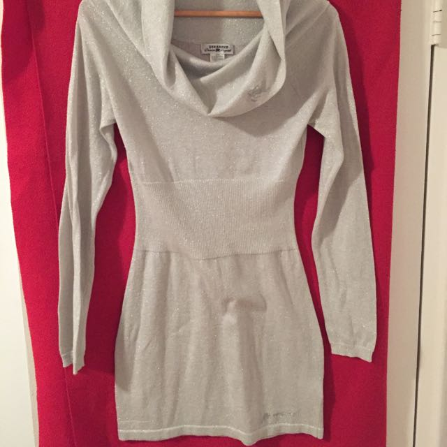 Parasuco Size m (small Fit) Silver Sweater Dress/ Tunic