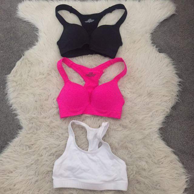 Three Pack Sports Bras/comfy Bras