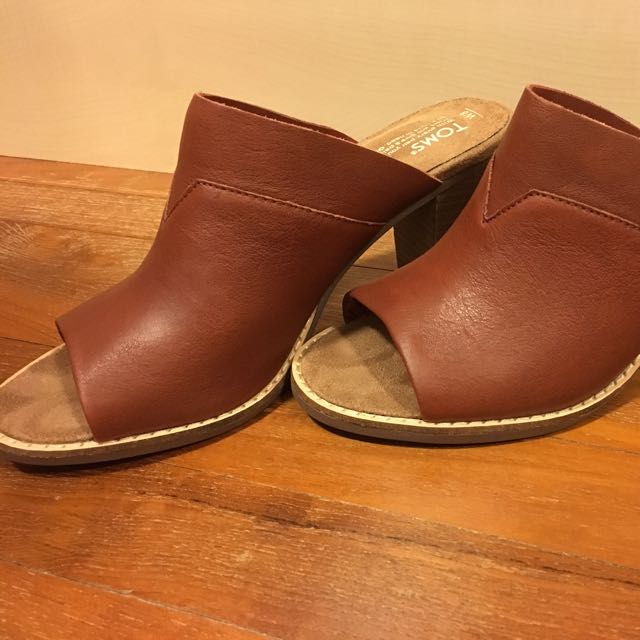 cae4d20553d Reduced!!  TOMS Majorca Mules In Cognac on Carousell