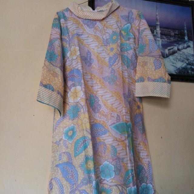 Tunik Katun Batik Solo Ukuran M Warna Kuning Di Gambar Ke 3 Ya