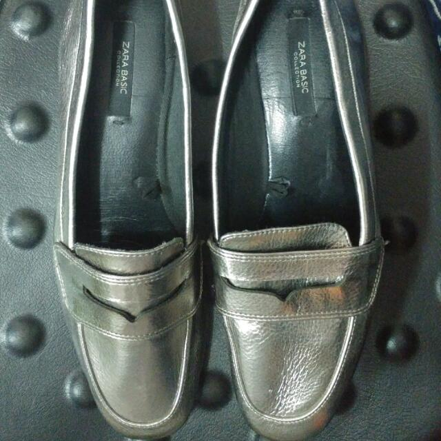 Zara Basic Silvergold Shoes