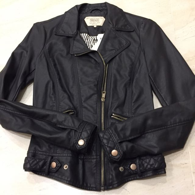 ZARA TRF 經典 仿皮 皮外套 Faux Leather Jacket