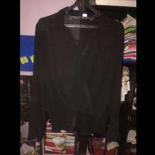 long blouse black HnM