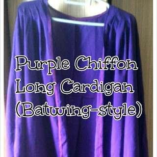 #FreePostage Plussize Chiffon Long Cardigan