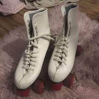 Vintage Leather Roller Skates