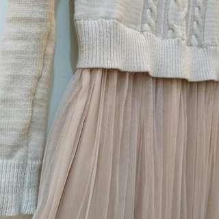 (保留)一件式毛衣紗裙