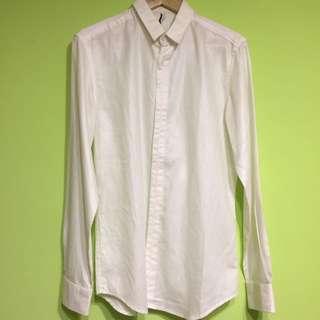 2% Two Percent 白色 長袖 襯衫