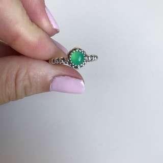 Pandora Peridot & Silver Ring