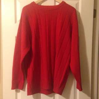 Vintage Unisex Red Sweater