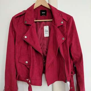 Brand New Sportsgirl Faux Suede Jacket Size S