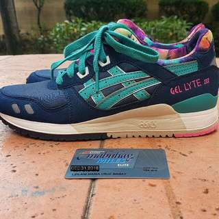 "Asics Gel Lyte 3 Navy ""Latigo Bay"" US6.5 womens"