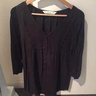 SEED FEMME Black smock Dress (Size M)