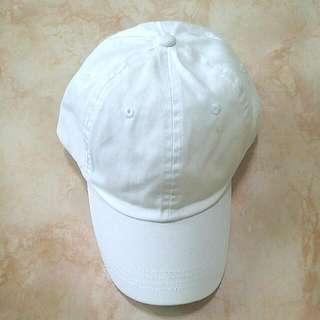 (BN) White Baseball Cap