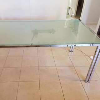Glass Top Table Sits 6-8