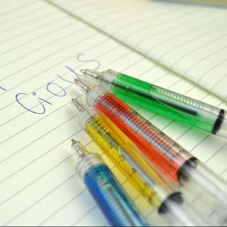 Colorful Syringe Liquid Pen