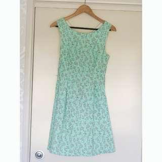 Cutest EVER Pink Flamingo Summer Dress Size L