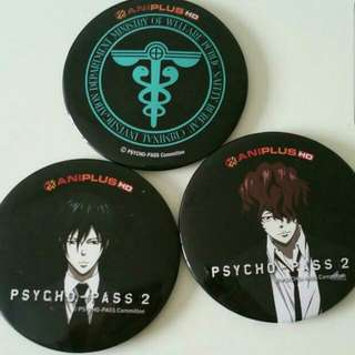 Psycho Pass Official Badges