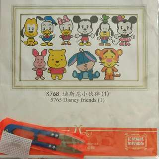 cross stitch kit - Disney Friends
