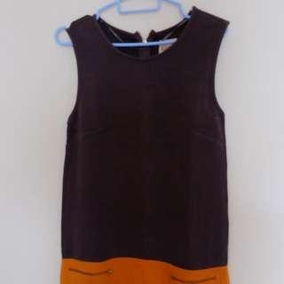 Zara Gray & Orange Dress