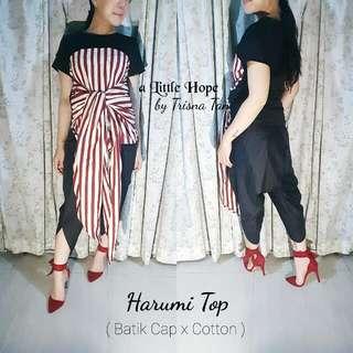 Harumi Top Batik Cap X Cotton