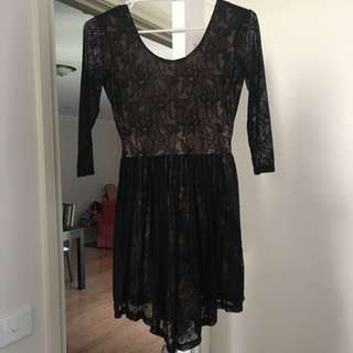 Black Lace Dress XS