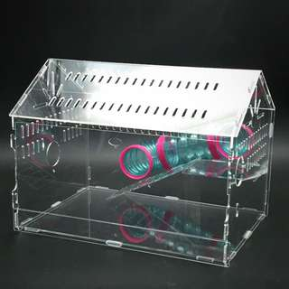 INSTOCK 1tier Acrylic Hamster Cage With Tunnels