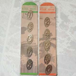 Unique Silver Colour Numerical Bookmarks From Taiwan
