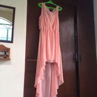 Forever 21 Long Back Peach Dress