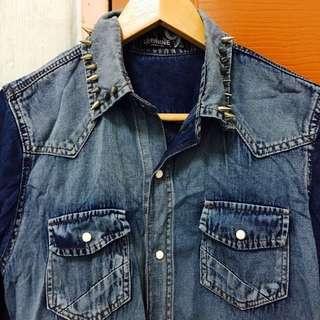 [ALL MUST GO] Ombré Handmade Studded Men's Shirt