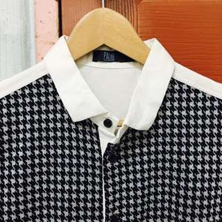 [ALL MUST GO] Houndstooth Men's Shirt