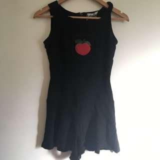 S 6 Black Playsuit Vintage