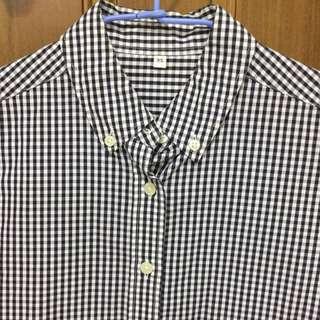 無印良品 Muji 細格紋 襯衫 Xs 經典款 #前男友市集
