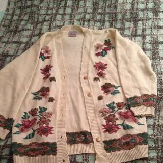 Oversize Vintage Granny Sweater