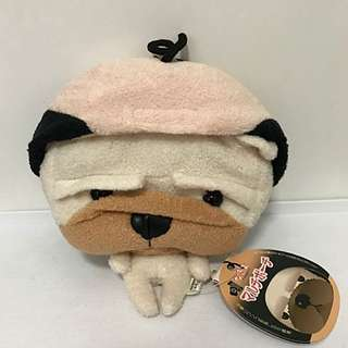 Cute Dog Pug 🐶 Nagio Plush Bag