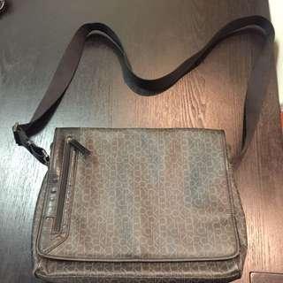 Calvin Klein CK monogram shoulder bag