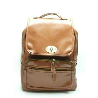 Tas Ransel Import Classic Brown / Woman Backpack Fashion