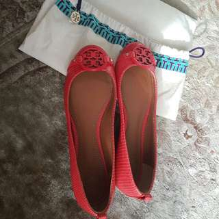 Tory Burch Flat Shoes Size 7.5 (setara 37.5-38)