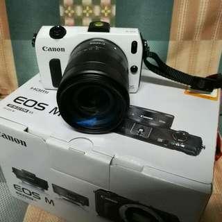 canon eos m  白色 85%新