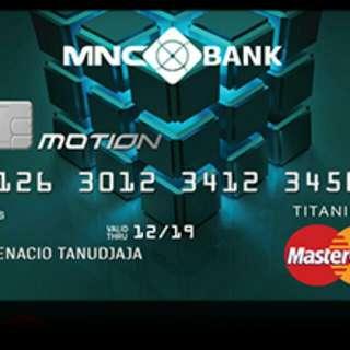 Kartu Kredit MNC Platinum. FREE KOPER AND VOUCHER MAP.