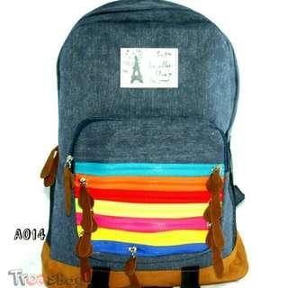 Tas Ransel Impor Baggy Jeans Woman Backpack