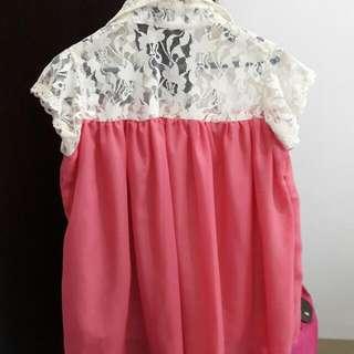 Baju Warna Pink Putih