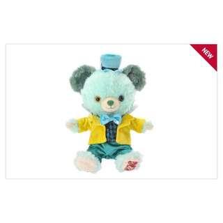 日本迪士尼 五週年瘋帽 愛麗絲 大學熊SS號衣服