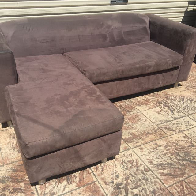3 Seater Suede Sofa Chaise The Grand Denver Home Furniture
