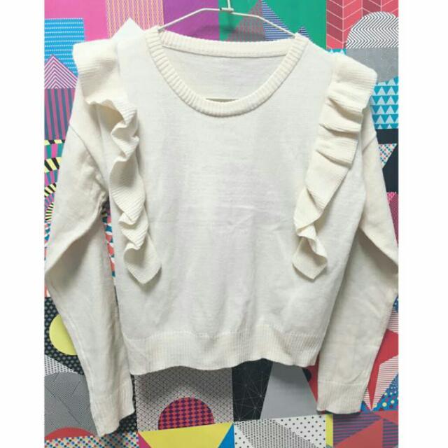 💯 米色設計感短毛衣