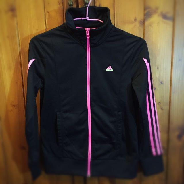 Adidas 黑底粉邊運動套裝