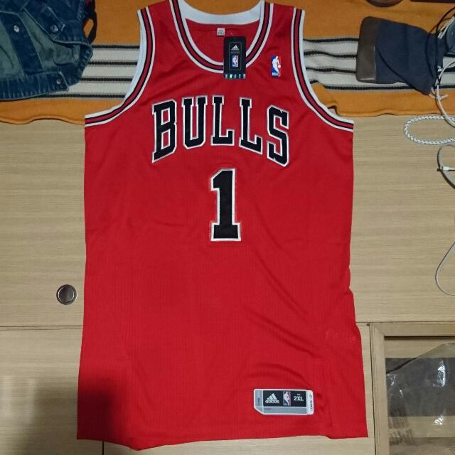 Adidas Derrick Rose Bulls Revolution 30 Rev 30 Authentic Jersey 羅斯落場版球衣All  Sewn New With Tag 2a5eec20c