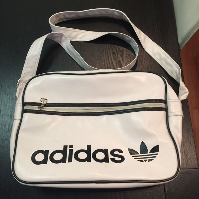 Adidas white shoulder bag