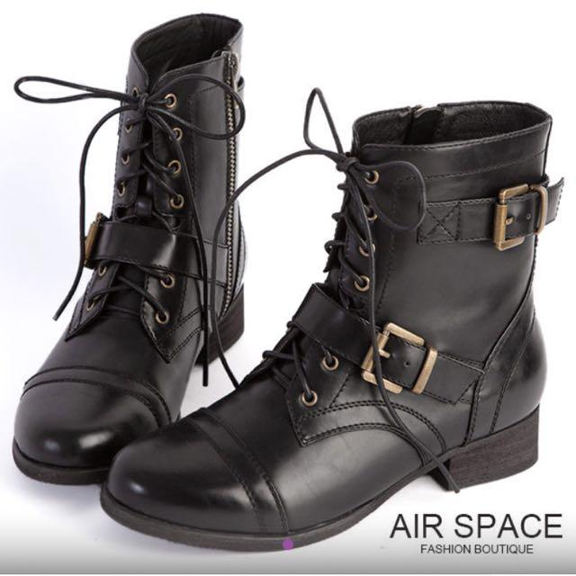 Air Space 中筒靴 36黑